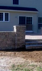 Patio, Seating Walls, and Steps