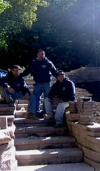 Steve Corteal and some of his crew at Landesign Hardscapes & Masonry