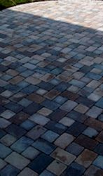 Multi color paver patio