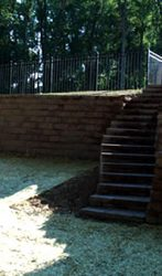 Custom Steps And retaining wall