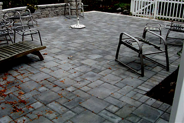Round Patio And Steps