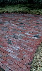 Old red brick patio