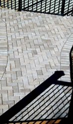 Paver cross walkway