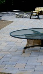 Paver Patio, seat wall, planter & Fire pit