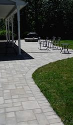 Paver patio, village square