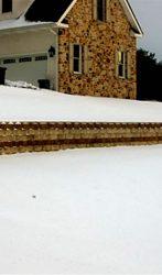 110 foot long ALLAN BLOCK retaining wall