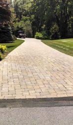 2500 square foot brick paver driveway