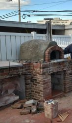During - outdoor pizza & bread oven