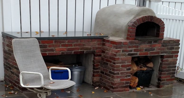 Completed - outdoor pizza & bread oven. Phoenixville, PA.
