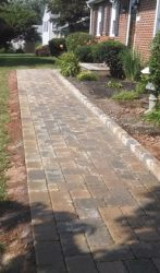 Rustic paver walkway