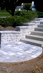 Grill Area, Retaining Wall, and Mason Steps