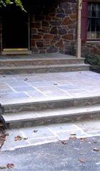 Flagstone and Lilac Stone Mason Steps