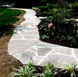 115 foot irregular stone walkway