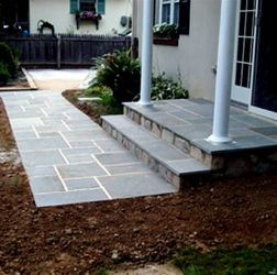 Blue Stone stoop and walkway