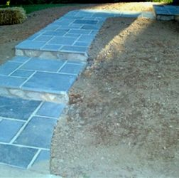 Blue Stone steps and walkway