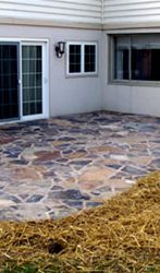 Natural stone patio