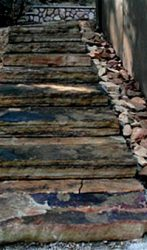 Natural stone steps