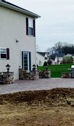 Stone stair cases, Fire place and Paver patio (2)