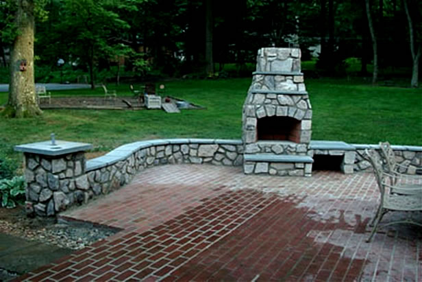 Stone Fireplaces Firepits Landesign Hardscapes And Masonry - Fire and patio place