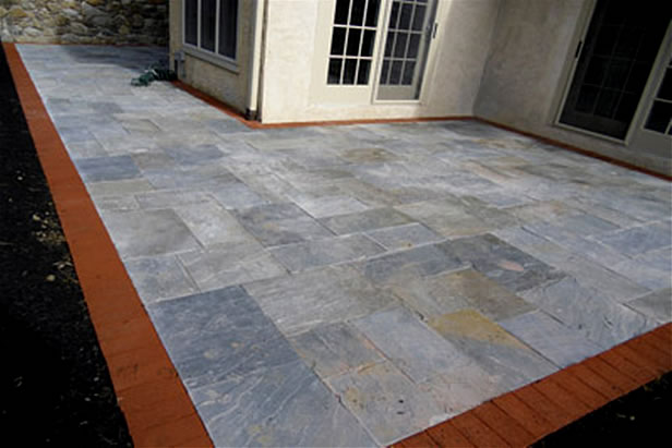 Flagstone In Cement With No Mortar Joints