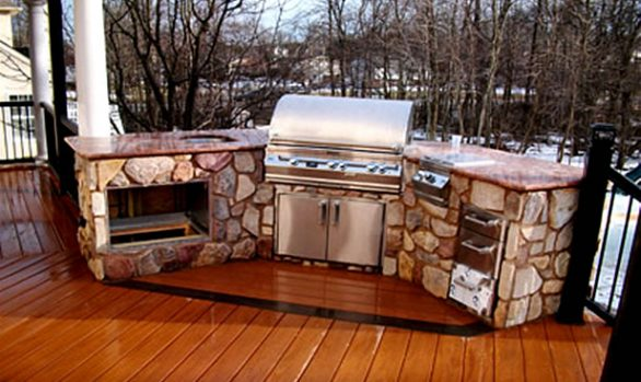 Stone Outdoor Cooking Areas
