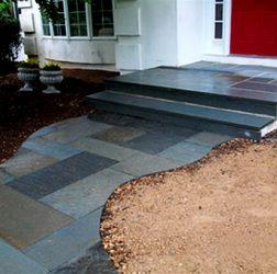 Flagstone stoop and Walkway