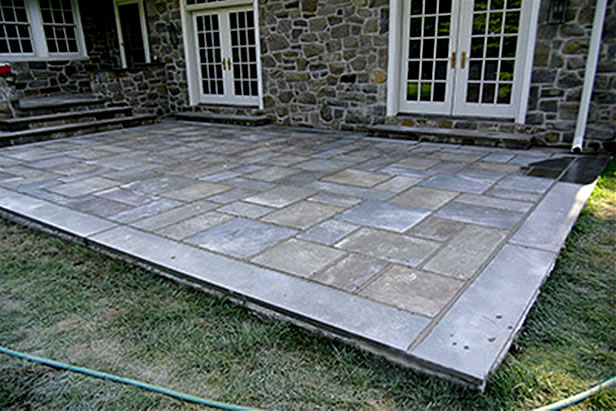 Flagstone Patio In Cement