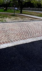 Brick and Cobble Stone Parking Area