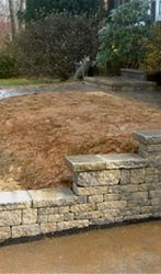Retaining wall, Steps and Walkway