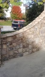 Stone wing wall